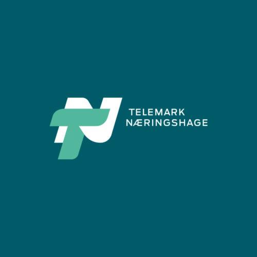 Telemarks Næringshage logo negativ form